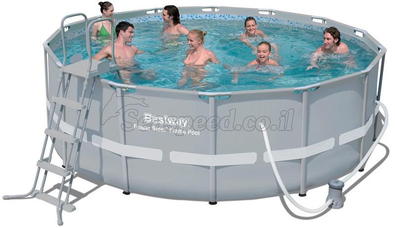 בריכת שחייה Bestway Power Steel Frame Pools 427X122 כולל משאבה ומסנן