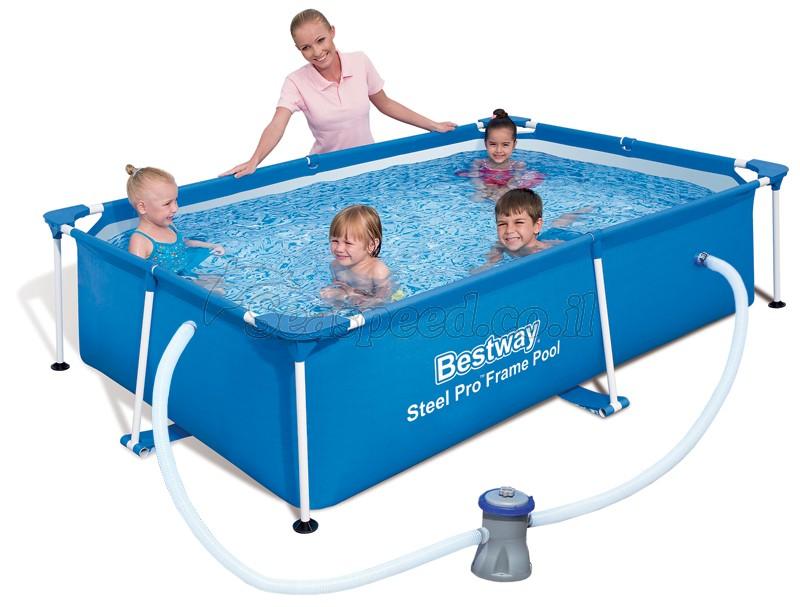 בריכת שחייה Bestway Splash Frame Pool 239x150x58 כולל משאבה