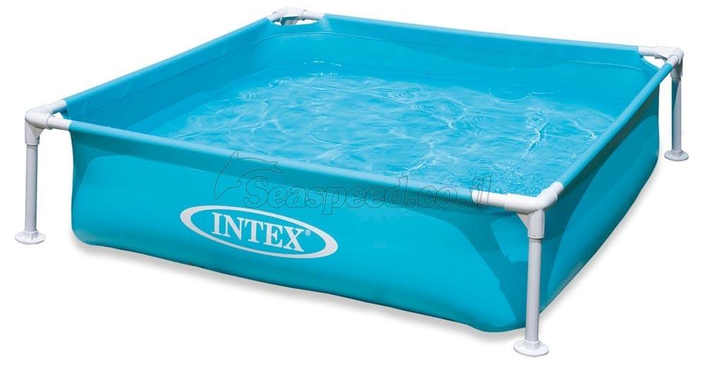 בריכת ילדים מרובעת עם מסגרת פלסטיק Intex 57171 חדש  !!!