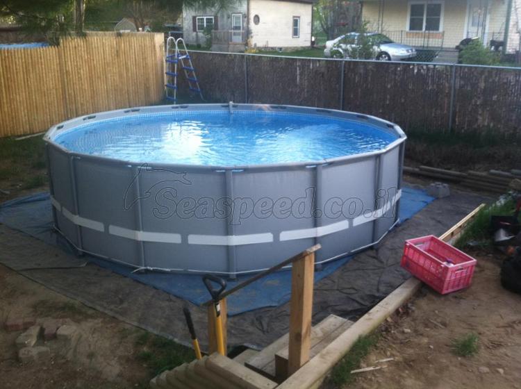 בריכת שחיה Ultra Frame Pool 488x122 בריכות Intex