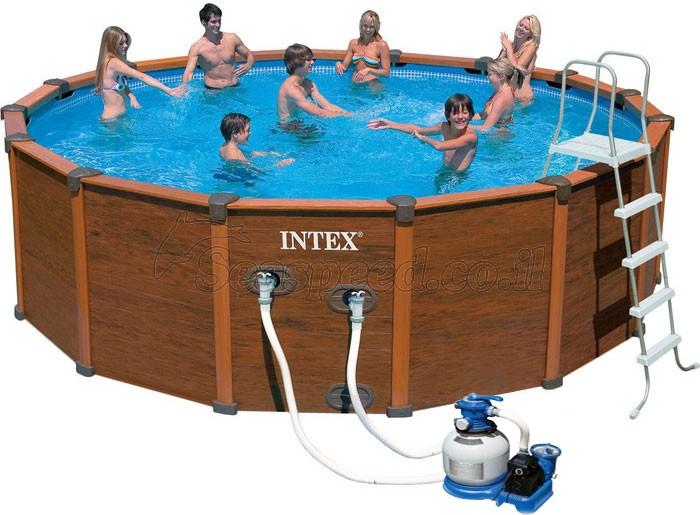 מפוארת בריכת שחיה משומשת(יד שניה) Sequoia Frame pool 508X124 - מוצרים משומשים HK-03