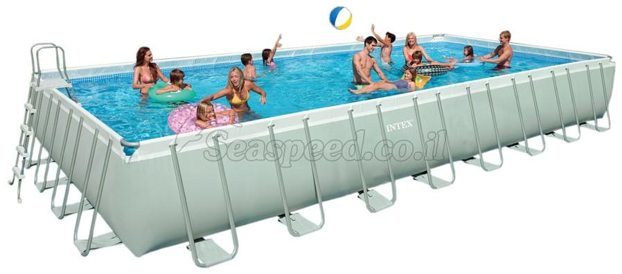 בריכת שחיה Ultra Frame pool 975X488X132 ללא משאבה