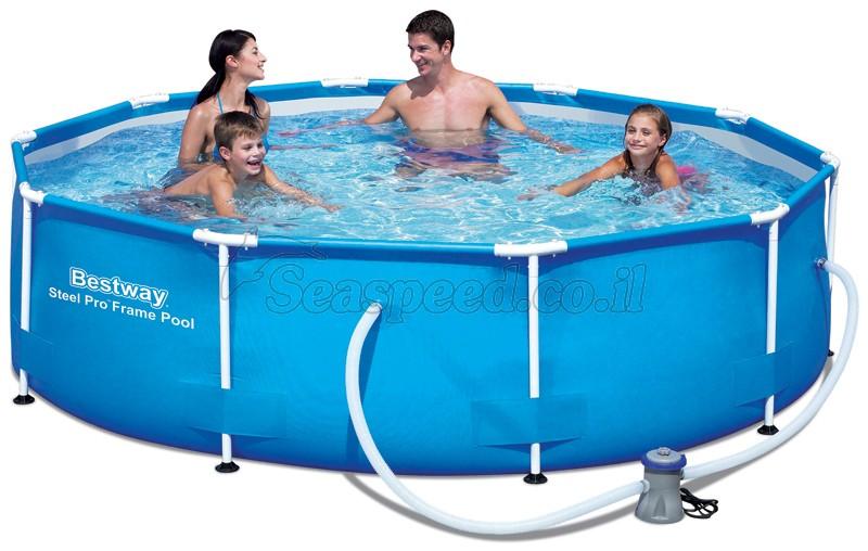 בריכת שחייה Bestway Steel Pro Frame Pools 305X76 כולל משאבה ומסנן