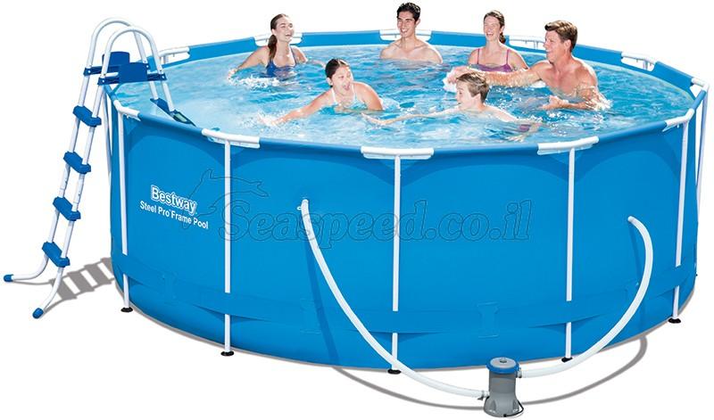 בריכת שחייה Bestway Steel Pro Frame Pools 366X122 כולל משאבה
