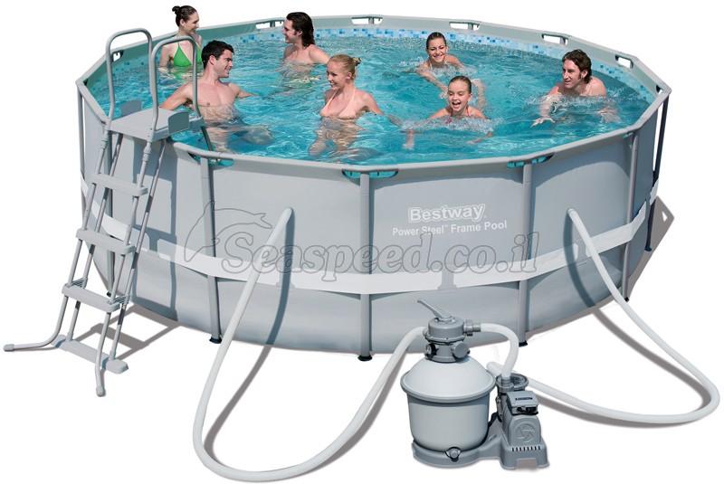 בריכת שחייה Bestway Power Steel Frame Pools 427X122 כולל משאבה ומסנן חול