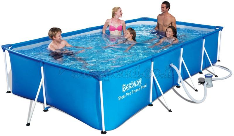 בריכת שחייה Bestway Splash Frame Pool 400X211X81 כולל משאבה