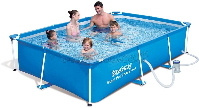 בריכת שחייה Bestway Splash Frame Pool 259x170x61 כולל משאבה