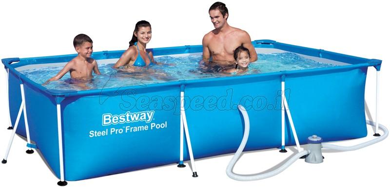 בריכת שחייה Bestway Splash Frame Pool 300X201X66 כולל משאבה