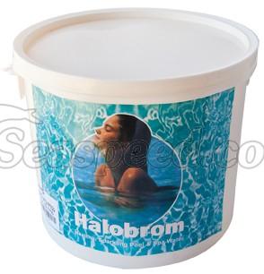 """טבליות הלו ברום לחיטוי איכותיות למי הבריכה לג'קוזי ספא ובריכות שחייה באריזה של 5 ק""""ג"""