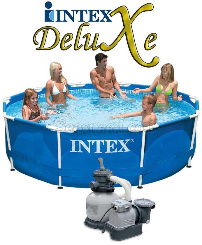 בריכת שחיה Intex Frame Pool 305X76 עם מסנן חול