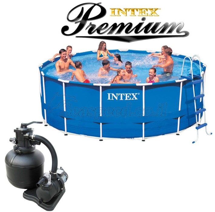 intex frame pool 457x122 premium frame. Black Bedroom Furniture Sets. Home Design Ideas