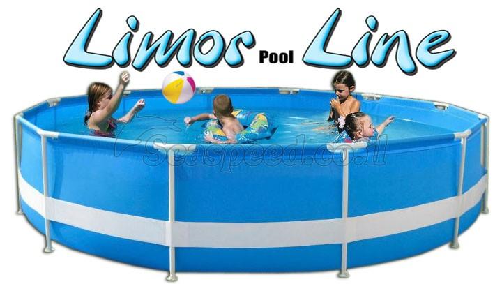 בריכת שחייה עגולה מדגם Limor Pool Line 350X75
