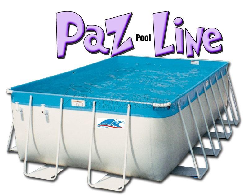 בריכת שחייה מלבנית מדגם Paz Pool Line 906X396X132