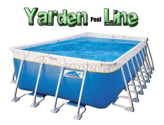 בריכת שחייה מלבנית מדגם Yarden Pool Line 830X450X132
