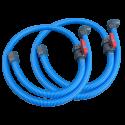 """זוג צינורות גמישים בקוטר 50 מ""""מ הכוללים ברזים ואביזרי חיבור למסנן ודופן הבריכה  באורך 2.5 מטר"""