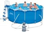 בריכת שחייה Bestway Steel Pro Frame Pools 366X122 כולל משאבה ומסנן חול
