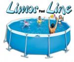 בריכת שחייה עגולה מדגם Limor Pool Line 516X130