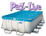 בריכת שחייה מלבנית מדגם Paz Pool Line 626X346X132