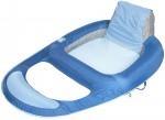 כיסא מרושת מתנפח עם משענת גב גבוהה ומנח רגליים Spring float recliner