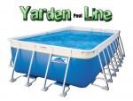 בריכת שחייה מלבנית מדגם Yarden Pool Line 970X540X150