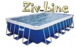 בריכת שחייה מלבנית מדגם Ziv Pool Line 976X356X132