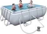 בריכת שחייה מלבנית Bestway Power Steel Frame Pools 282X196X84 כולל משאבה