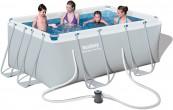 בריכת שחייה מלבנית Bestway Power Steel Frame Pools 287X201X100 כולל משאבה