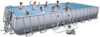 בריכת שחייה מלבנית Bestway Power Steel Frame Pools 956x488x132 כולל קיט מסנן חול