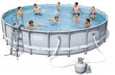 בריכת שחייה Bestway Power Steel Frame Pools 671x132 כולל משאבה ומסנן חול