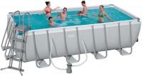 בריכת שחייה מלבנית Bestway Power Steel Frame Pools 488x244x122 כולל משאבה