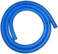 """צינור שרשורי מחוזק כחול בקוטר 50 מ""""מ עם דופן פנימית חלקה"""