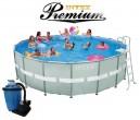 בריכת שחיה Intex Ultra Frame 549X132 Premium  עם מסנן חול