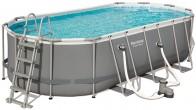 בריכת שחייה אובאלית Bestway Power Steel Frame Pools 549X274X122 כולל משאבה