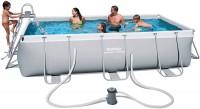 בריכת שחייה מלבנית Bestway Power Steel Frame Pools 404x201x100 כולל משאבה