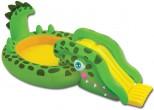 """בריכת שכשוך לילדים כולל מגלשה ומתיז מים בצורת תנין תוצרת INTEX מק""""ט 57132"""