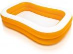 בריכה משפחתית דופן מתנפחת Swim Center דופן כתומה תוצרת אינטקס דגם  57181