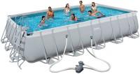 בריכת שחייה מלבנית Bestway Power Steel Frame Pools 671x366x132 כולל משאבה