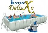 """בריכת שחיה Intex Ultra Frame 732X366X132 עם מסנן חול 1.0 כ""""ס"""