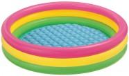 """בריכת צבעי גלידה שלוש טבעות צבעוניות כולל רצפה מתנפחת תוצרת INTEX מק""""ט 57422"""