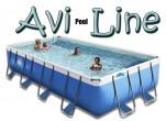 בריכת שחייה מלבנית מדגם Avi Pool Line 695X310X100