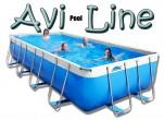 בריכת שחייה מלבנית מדגם Avi Pool Line 580X310X100 עם מסנן חול