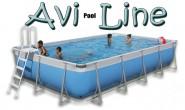 בריכת שחייה מלבנית מדגם Avi Pool Line 570X306X105 עם מסנן חול