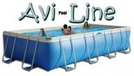 בריכת שחייה מלבנית מדגם Avi Pool Line 515X245X80