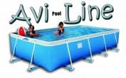 בריכת שחייה מלבנית מדגם Avi Pool Line 425X245X80
