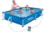 בריכת שחייה Bestway Splash Frame Pool 221x150x43 כולל משאבה