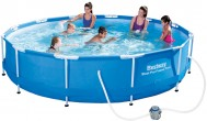 בריכת שחייה Bestway Steel Pro Frame Pools 366X76 כולל משאבה ומסנן