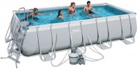 בריכת שחייה מלבנית Bestway Power Steel Frame Pools 488x274x122 כולל קיט מסנן חול