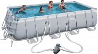 בריכת שחייה מלבנית Bestway Power Steel Frame Pools 549x274x122 כולל משאבה