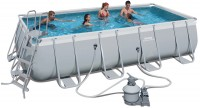 בריכת שחייה מלבנית Bestway Power Steel Frame Pools 549x274x122 כולל קיט מסנן חול