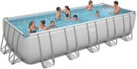 בריכת שחייה מלבנית Bestway Power Steel Frame Pools 640x274x132 כולל קיט מסנן חול